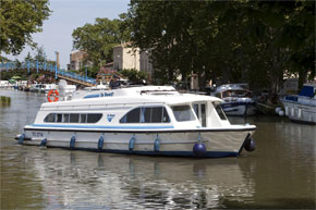 Cruisers for hire on the Saône River in Burgundy France - Calypso