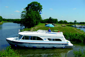 Cruisers for hire on the Saône River in Burgundy France - Cirrus A