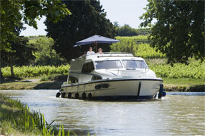 Cruisers for hire on the Saône River in Burgundy France - Mystique