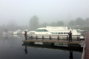 Shannon Boat Hire Gallery - Hardy Fishermen in the fog