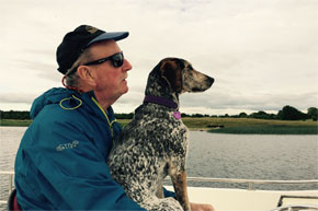 Shannon Boat Hire Gallery - The captain and his first mate