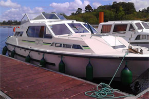 Shannon Boat Hire Gallery - Moored Lake Star