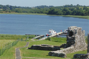 Moored at Holy Island on Lough Erne
