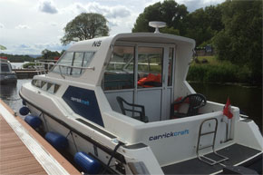 Shannon Boat Hire Gallery - Carlow Class from behind