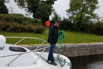 Shannon Boat Hire Gallery - Practicing lasso skills.