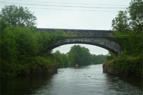 Shannon Boat Hire Gallery - Cruising under a bridge on the way from Carrick-on-Shannon