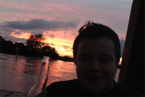 Shannon Boat Hire Gallery - A beer, a boat and a sunset - what could be better?