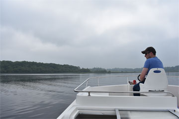 Shannon Boat Hire Gallery - Crossing a lake on a Shannon Star
