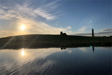 Shannon Boat Hire Gallery - The sun setting on Holy Island on Lough Erne