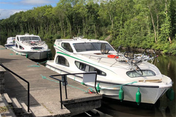 Shannon Boat Hire Gallery - A pair of Caprices moored