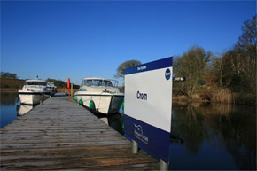Shannon Boat Hire Gallery - Moored up at Crom on the Erne