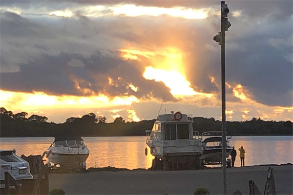 Shannon Boat Hire Gallery - Sunset over Lough Erne