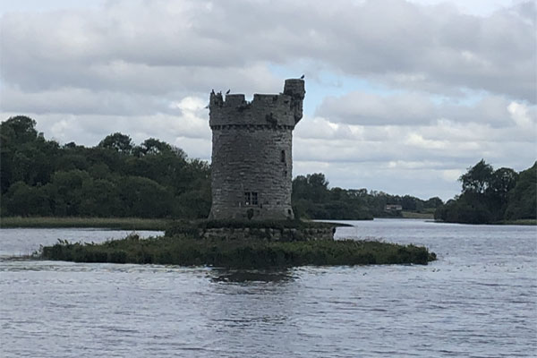 A round tower on Lough Erne