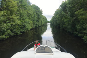 Shannon Boat Hire Gallery - Cruising the Jamestown Canal on a Consul