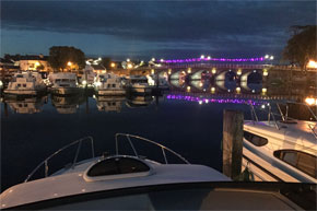 Shannon Boat Hire Gallery - Carrick-on-Shannon at night
