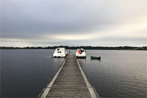 Shannon Boat Hire Gallery - Moored on a lake