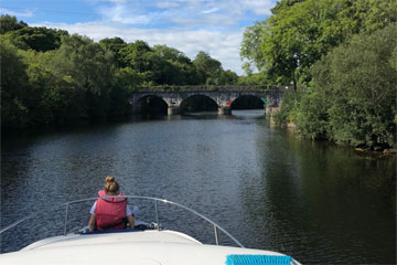 Shannon Boat Hire Gallery - Cruising the Boyle River on a Kilkenny Class