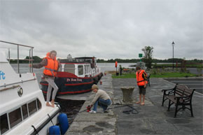 Shannon Boat Hire Gallery - Mooring a Waterford Class Cruiser