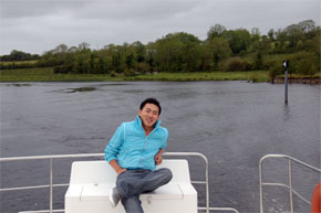 Shannon Boat Hire Gallery - Relaxing on the stern of a Shannon Star