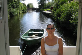 Shannon Boat Hire Gallery - Leaving a lock on the Lough Allen canal.