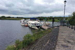 Shannon Boat Hire Gallery - A Vision 4 moored