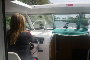 Shannon Boat Hire Gallery - Driving a Town Star