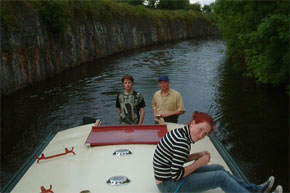 Shannon Boat Hire Gallery - The Coyne Family from Dublin cruising the Shannon/Erne Waterway on a 45ft Barge.