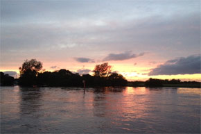 Shannon Boat Hire Gallery - Sunset on the Shannon River in Ireland