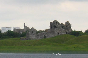 Cruising past Clonmacnoise.