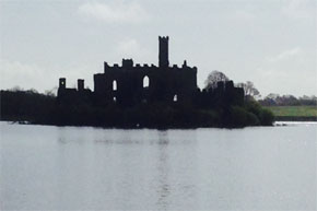 Passing Castle Island on Lough Key