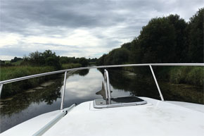 Shannon Boat Hire Gallery - Cruising a canal on a Carlow Class