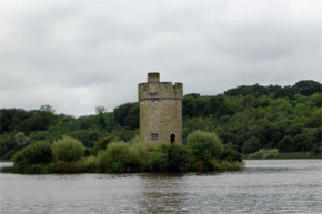 "Shannon Boat Hire Gallery - ""Fort on Upper Lough Erne on 23.8.04""."