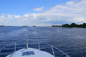 Shannon Boat Hire Gallery - A Carlow Class on Lough Ree