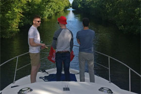 Shannon Boat Hire Gallery - Cruising the Jamestown Canal on a Clare Class