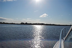 Shannon Boat Hire Gallery - Crossing Lough Ree