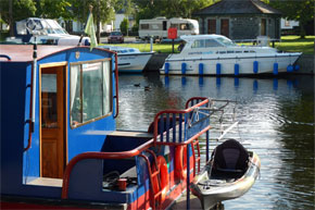 Shannon Boat Hire Gallery - Carlow Class moored at Dromod Harbour
