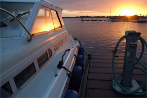 Shannon Boat Hire Gallery - Sunset on a Carlow Class