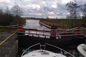 Shannon Boat Hire Gallery - A view of lough Boderg from Albert Lock near Jamestown.