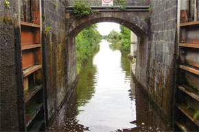 Shannon Boat Hire Gallery - Passing through a Lock on the a Kilkenny Class Cruiser