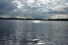 Cruising across Lough Ree