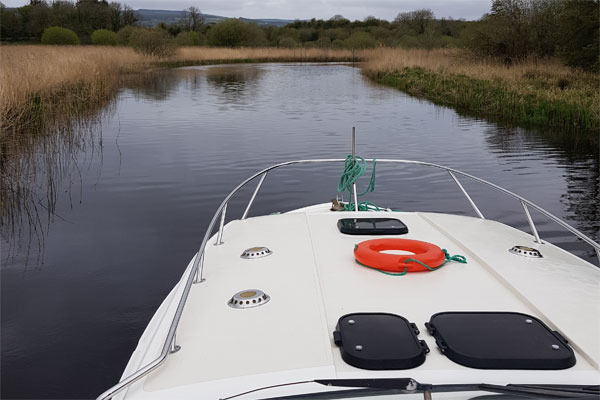 Gently cruising on the Shannon