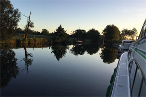 Shannon Boat Hire Gallery - Moored in a quiet spot