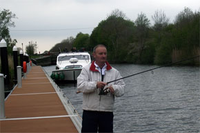 Shannon Boat Hire Gallery - Might as well try to catch something...
