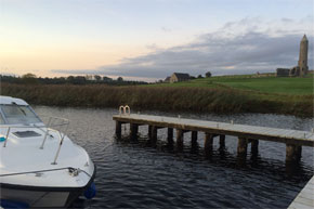 Carlow Class moored at Holy Island on Lough Erne