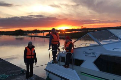 Shannon Boat Hire Gallery - Arriving at Sunset