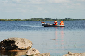 Shannon Boat Hire Gallery - Taking a dinghy out on a lake