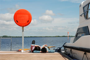 Shannon Boat Hire Gallery - Sunbathing on a jetty