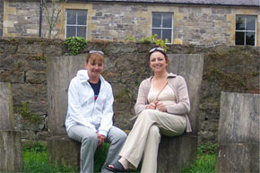 Shannon Boat Hire Gallery - Relaxing at Crom Castle on Lough Erne.