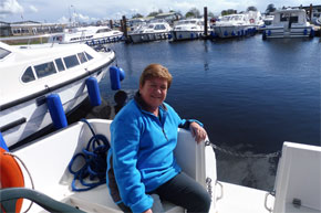 Shannon Boat Hire Gallery - Relaxing in the sunshine on a Carlow Class