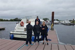 Shannon Boat Hire Gallery - Crew, all present and mostly correct.